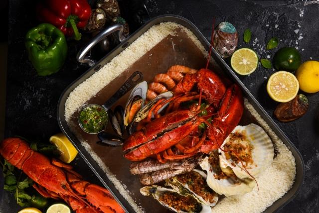 水晶盐板烤海鲜——来自喜马拉雅的馈赠